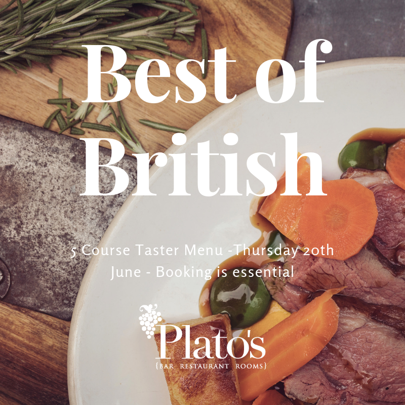 Best of British event at Plato's this month