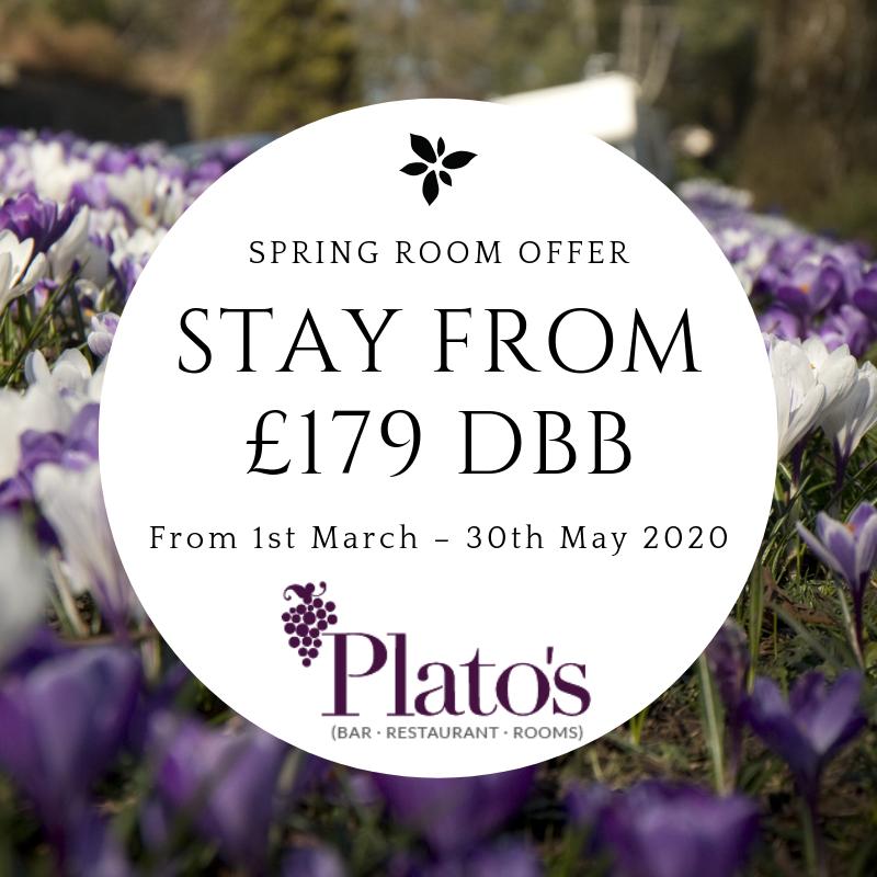 Spring DB&B Room Offer at Plato's
